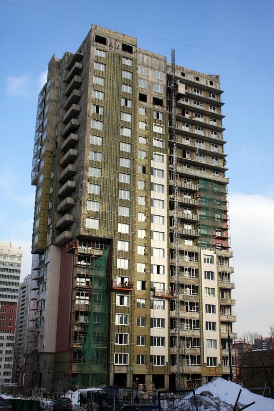 Жилой дом с автостоянкой и нежилым 1-м этажом, г. Москва, Ломоносовский р-н, 15 квартал, 2-я очередь застройки, корпус 8Б-3, 8В